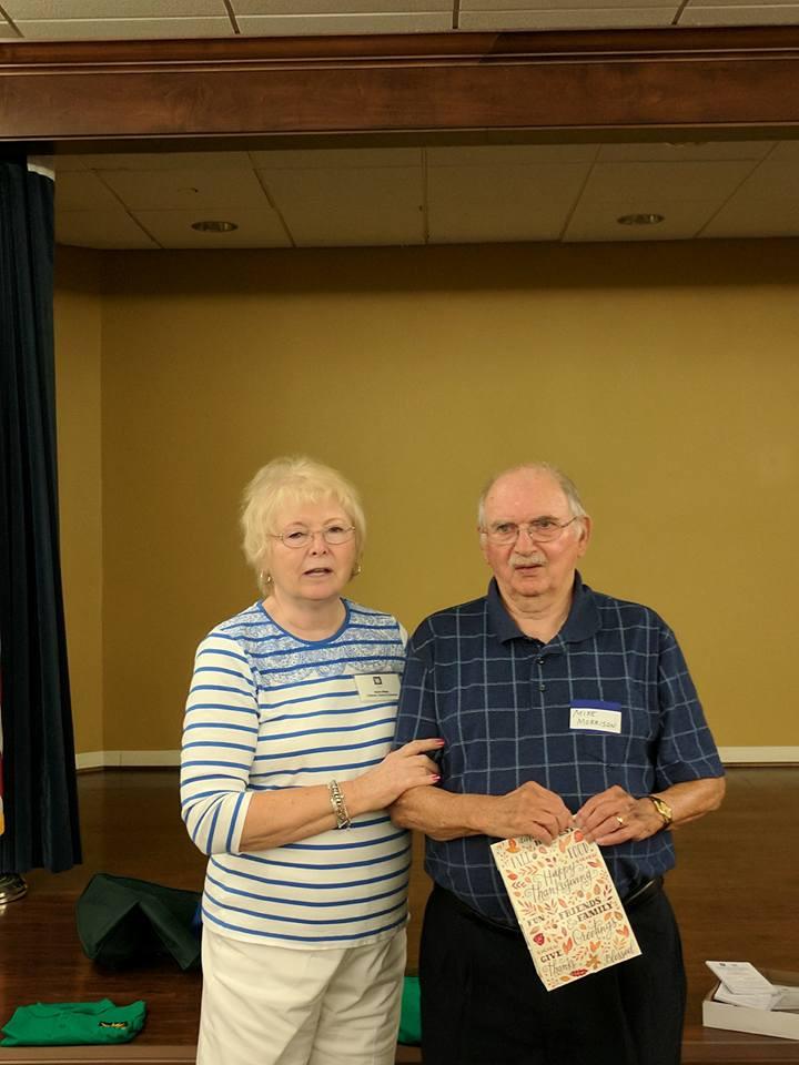 Chair Karen Shipp with retiring vounteer Mike Morrison