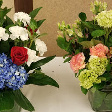Beautiful florals created by Pat Jackson for auction