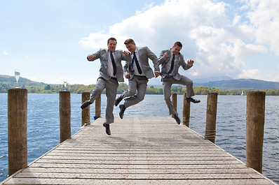 fun in the sun wedding photography Langdale Chase