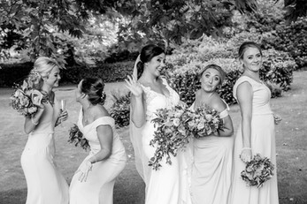 Black and White wedding photography Belsfield Hotel