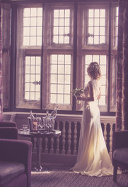 A lovely photograph of the bridal dress @abbeyhousehotel
