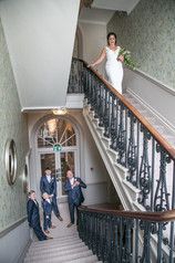 A picture of the bride and her father at The Laura Ashley Hotel Bowness
