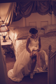 A tender wedding moment captured at The Grange Hotel