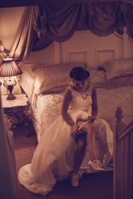 A tender wedding moment captured at The Grange Hotel
