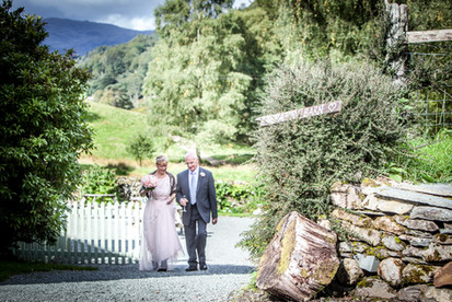 wedding photographer taking pictures at CoteHow Lake District