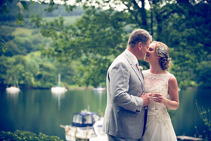 Female wedding photographer at the Lakeside Hotel Newby Bridge