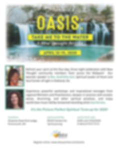 Oasis Retreat 2020 Ahava flyer - Google