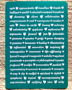 70 adjectives (postcard 1)