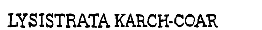 lysistrata-karch-coar-serif-logotype-for