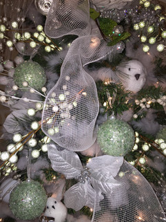 Christmas Wedding decorated tree