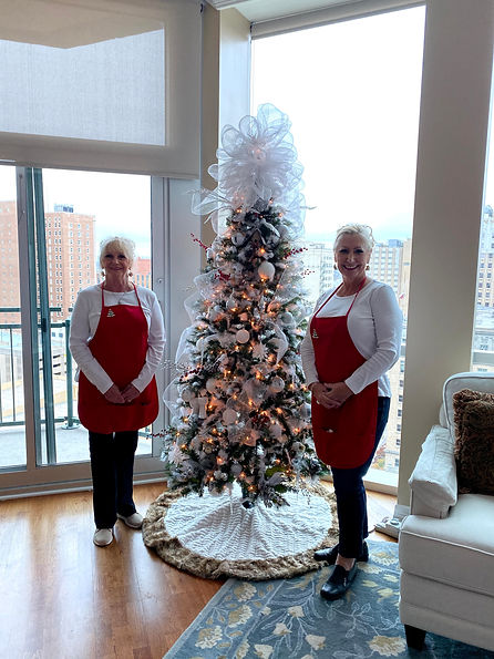 Christmas Tree, white winter wonderland