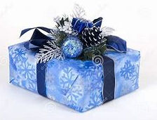 Blue wrapped gift for the man in your life