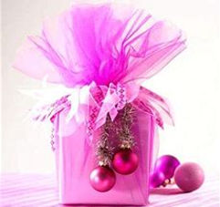 Pink Christmas Gift, elegant gift wrap from Giftwrappingserviceplus