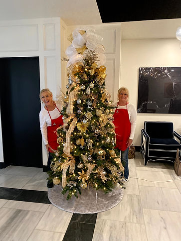 Champayne, gold and Silver Christmas Tree