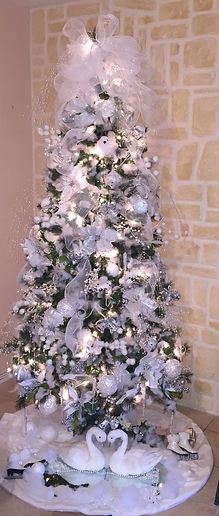 White Christmas tree for weddings