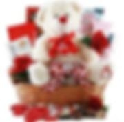 Valentines Gift Basket with Teddy Bear