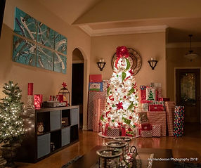 White Christmas tree from Gift wrapping service plus/Christmas tree rentals, Fort Worth, Texas
