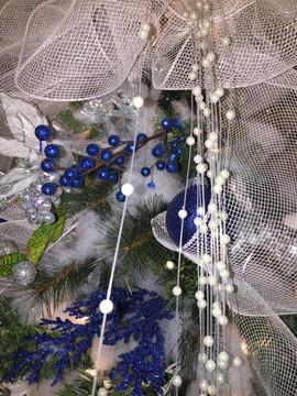 Christmas Wedding Blue and White