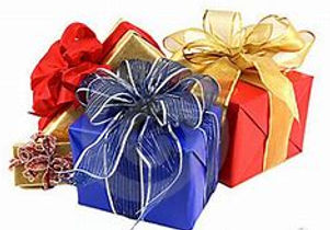 christmas gifts, blue, red ,gold and red christmas gifts, beautiful bows, pretty ribbon