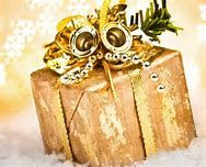 Gold christmas gift fron gift wrapping service plus