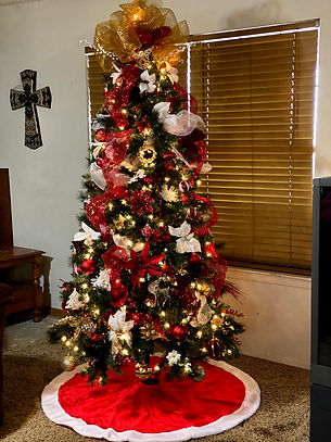 Red and White Tree