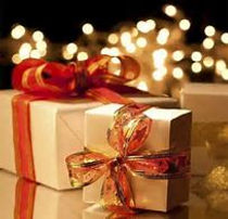 christmas gifts, gift wrapped gifts, presents, christmas ribbon
