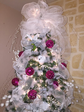 Wedding Tree with Pink accent