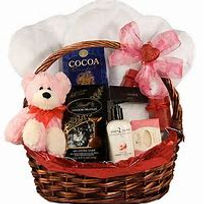 Valentines Gift baskets - teddy and chocolates