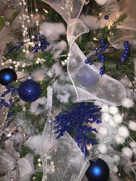 Blue Christmas Wedding Tree