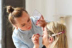 Hochzeits-Make-up-Prozess