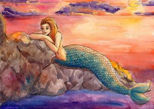 Lounging Mermaid
