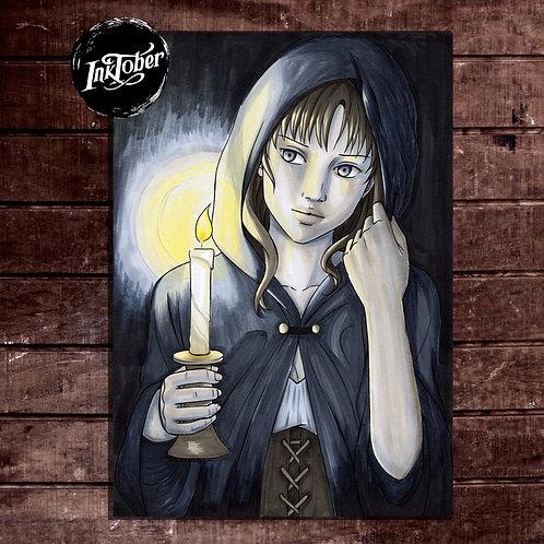 Candle - Inktober 2019 - Original Artwork