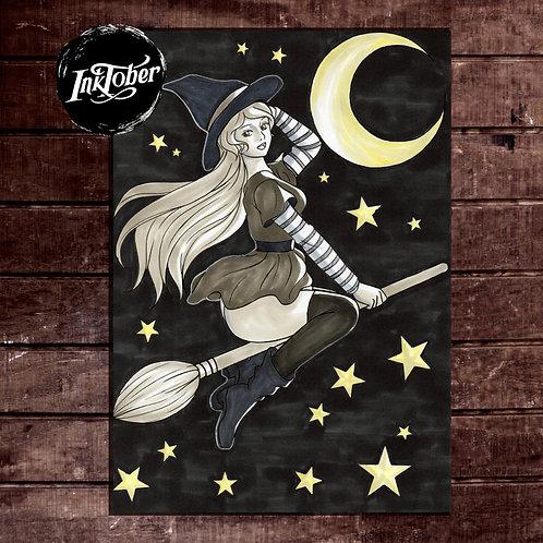 Witchy - Inktober 2019 - Original Artwork