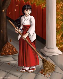 Miko in autumn