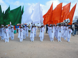 Republic day parade in parade ground
