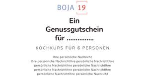 Schenken Sie einen Boja-Gutschein
