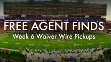 Week 6 Waiver Wire Wonders
