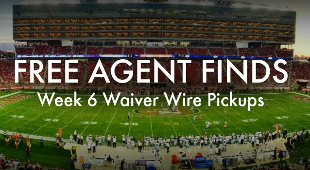 Week 6 Waiver Wire Wonders