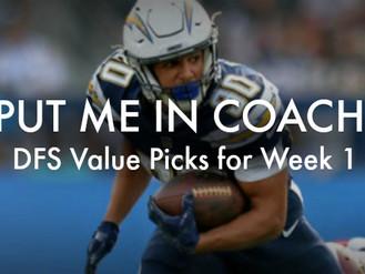 DFS Value Picks for Week 1