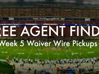 Week 5 Waiver Wire Wonders