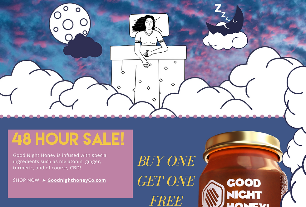 Sleep Pack - CBD Good Night Honey + CBD Anytime & Sleep Gummies -