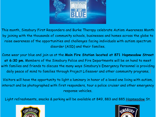"On April 20th, Help Us ""Light Simsbury Up Blue"""