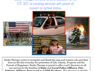 Rewards for Our Heroes from Burke Therapy