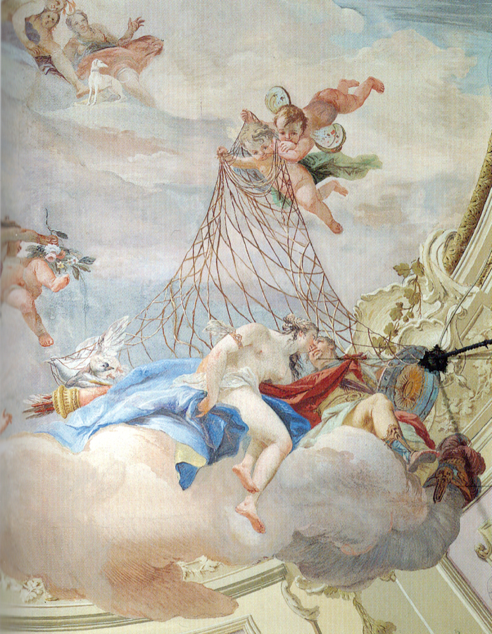 Venus and Mars Surprised by a Net by Costantino Cedini in the Palazzo Emo Capodilista in Padua, Italy
