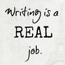 Writing is a real job