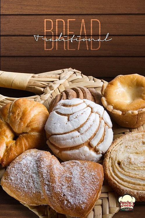 PAN DULCE TRAY ( 8 ASSORTED PIECES)