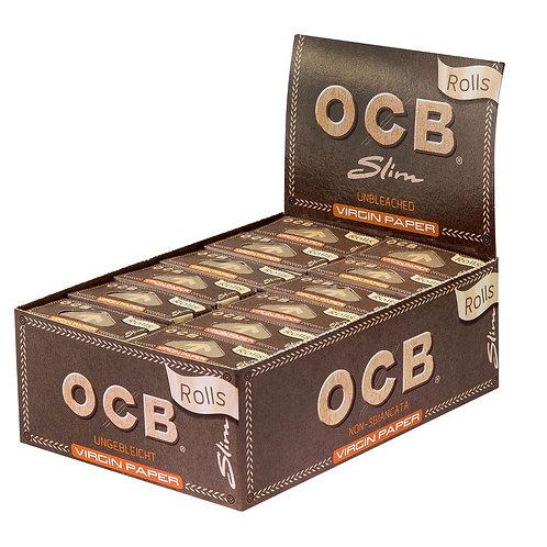 BOX OCB Slim Rolls unbleached. 24x