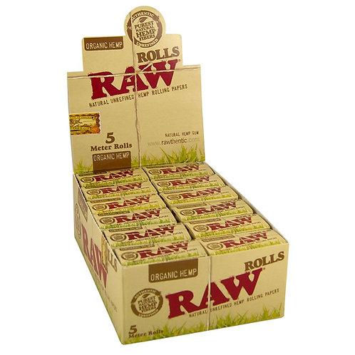 BOX Raw Organic Hemp  Paper Rolls.  24x