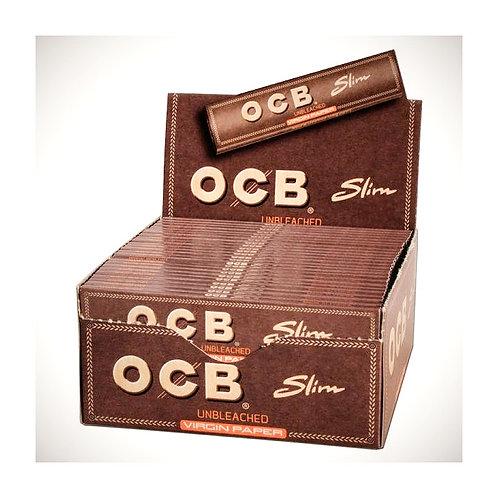 BOX OCB Slim Unbleached  Paper. 50x