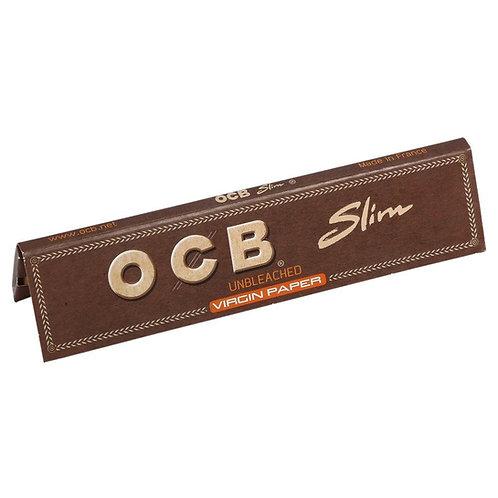 OCB slim Unbleached Virgin  Smoking Paper